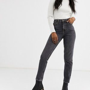 "TOPSHOP | ""Mom"" Distressed Black Jeans 26"